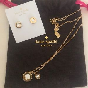 ♠️NEW KATE SPADE EARRING AND NECKLACE SET♠️